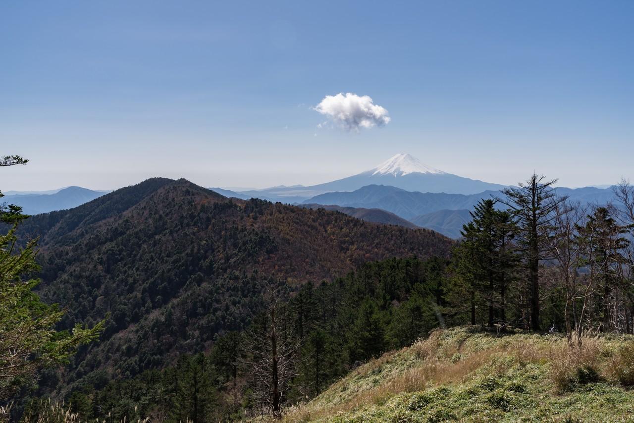 牛奥ノ雁ヶ腹摺山からの富士展望