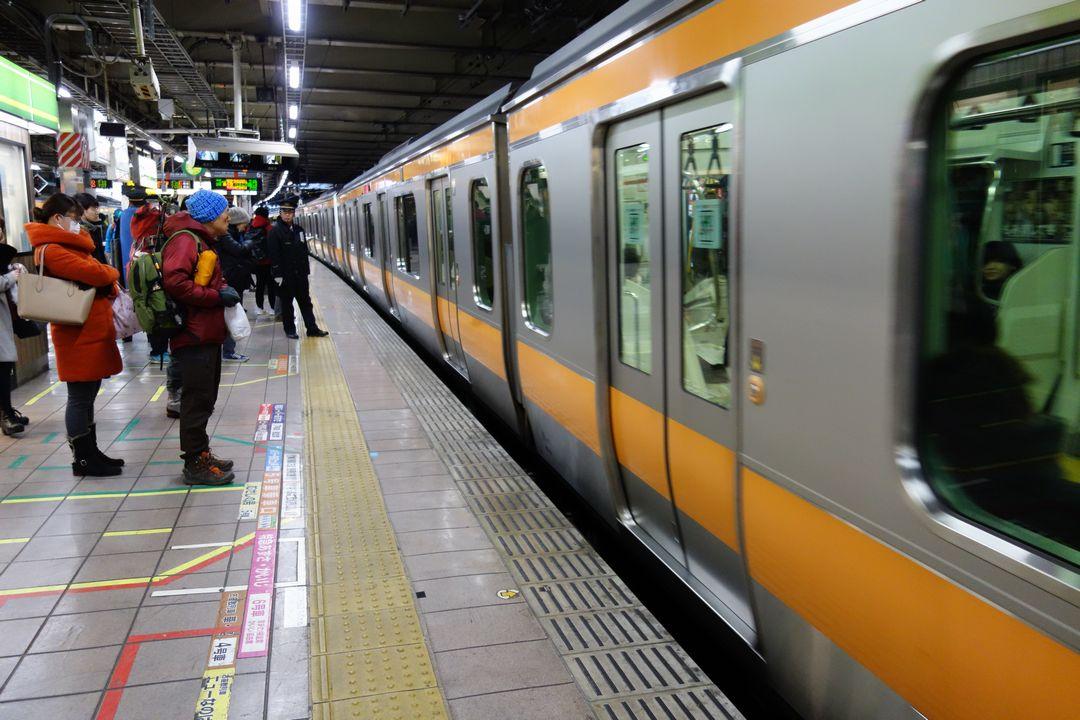 立川駅の6番線ホーム