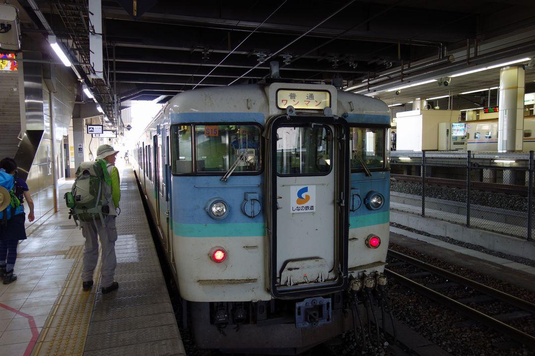 長野駅のしなの鉄道ホーム