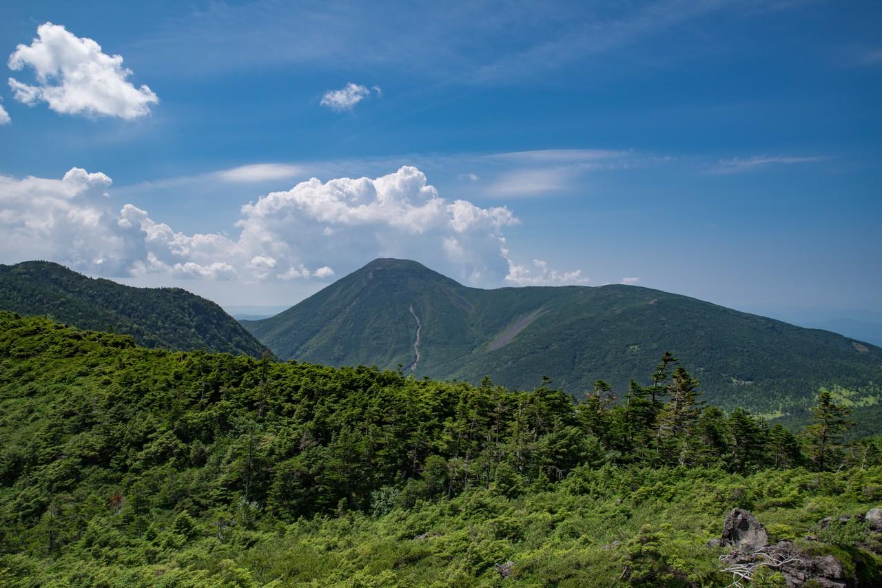 大岳から見た蓼科山