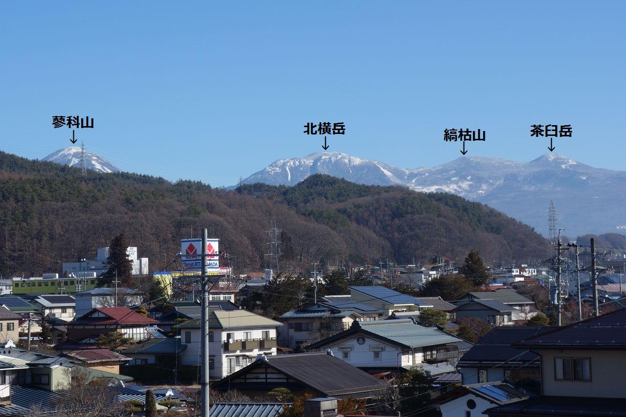 茅野駅の展望台から見た八ヶ岳