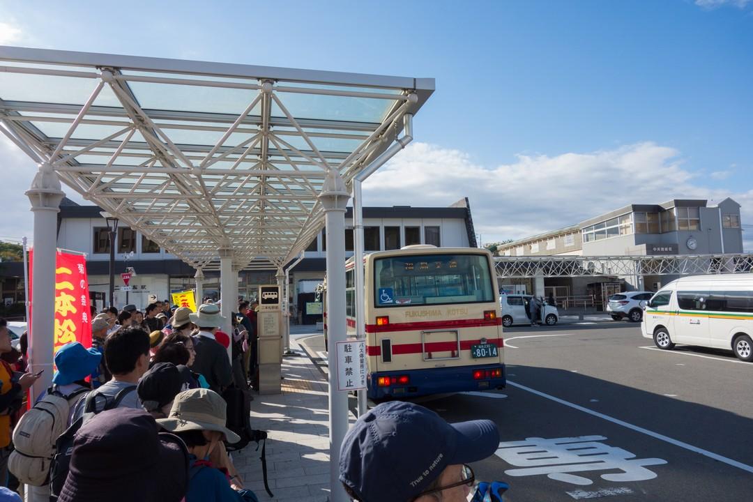 二本松駅のバス停