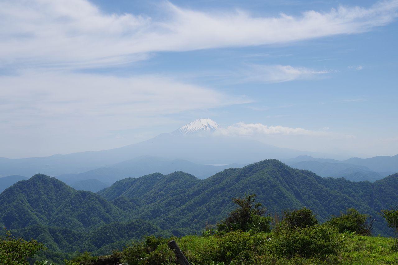 蛭ヶ岳から見た富士山
