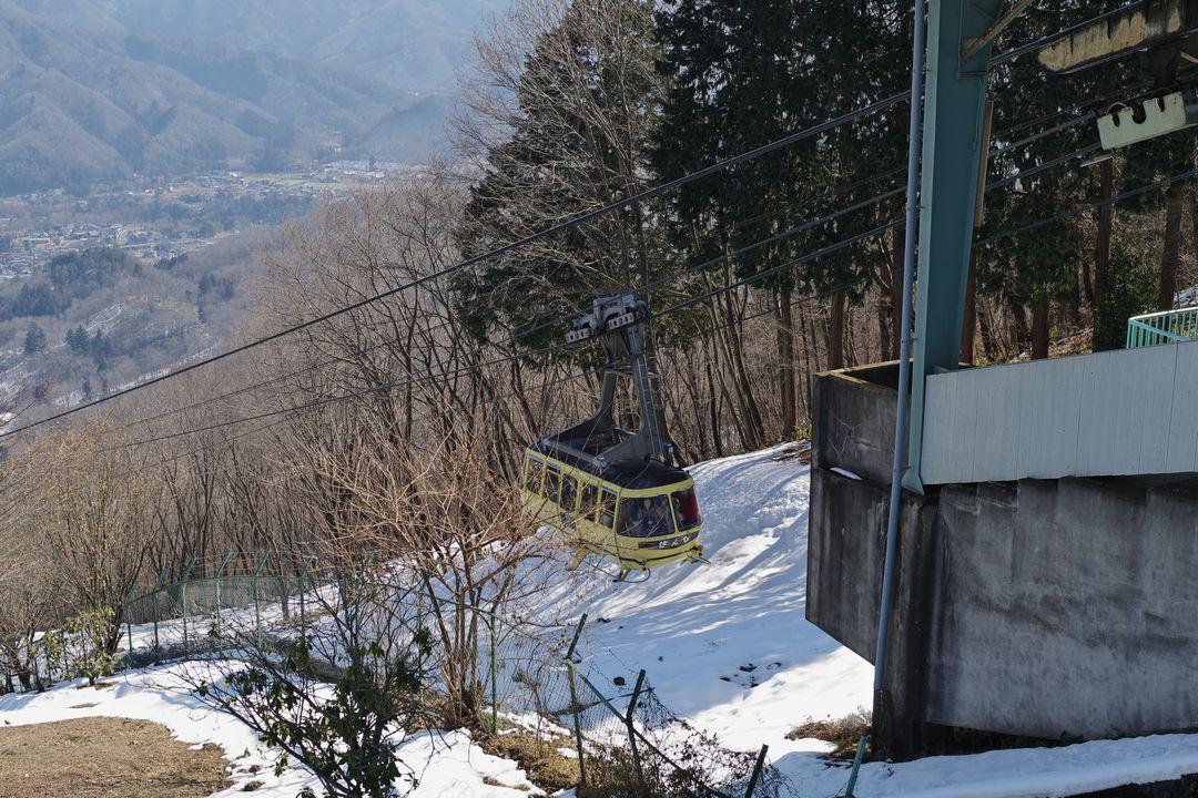 宝登山のロープウェイ