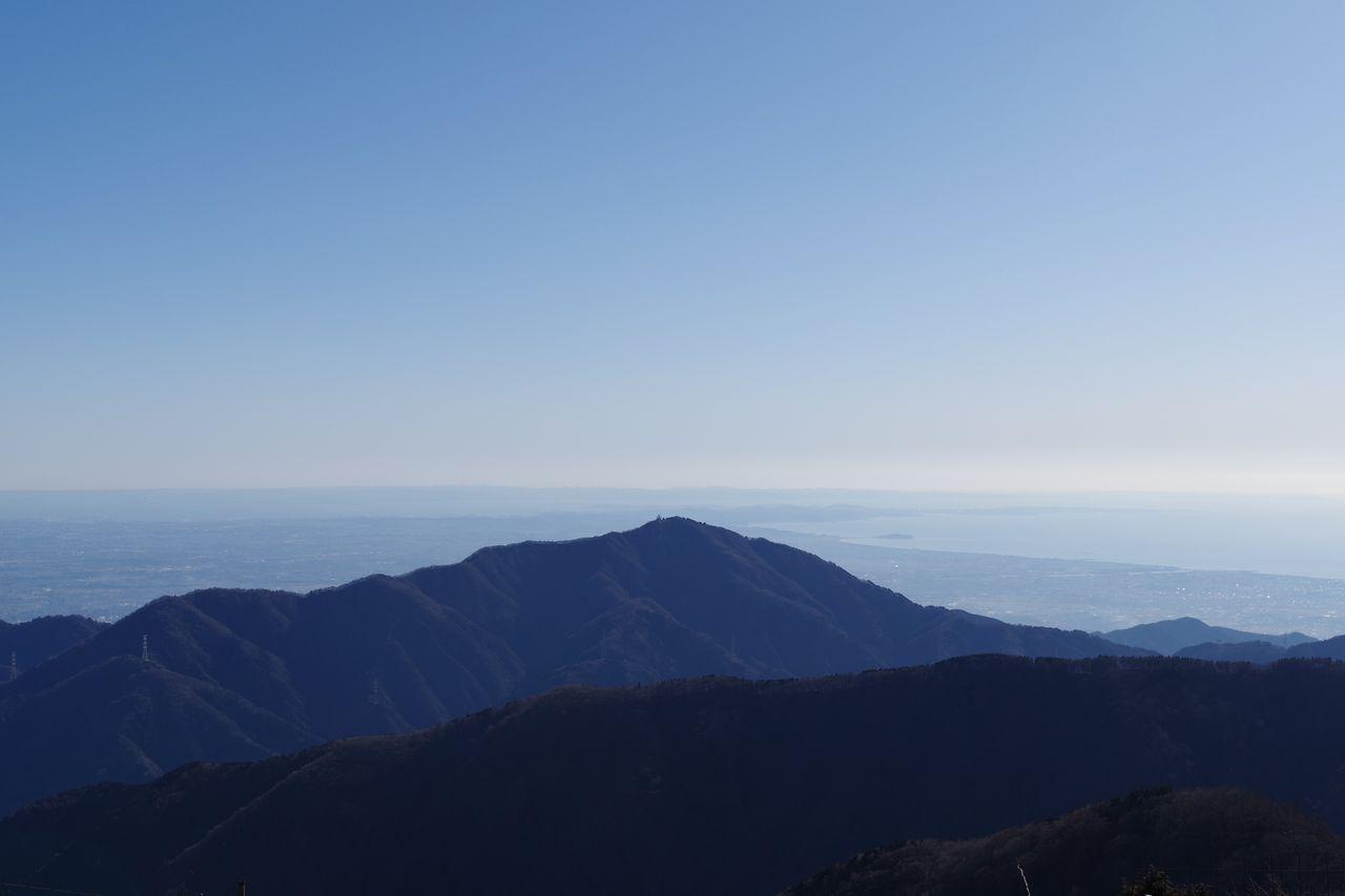 竜ヶ馬場から見た大山