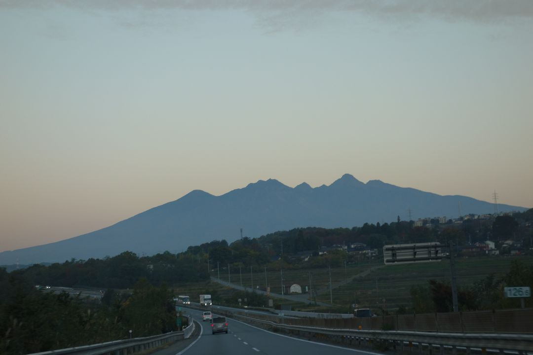 中央自動車道から見た八ヶ岳