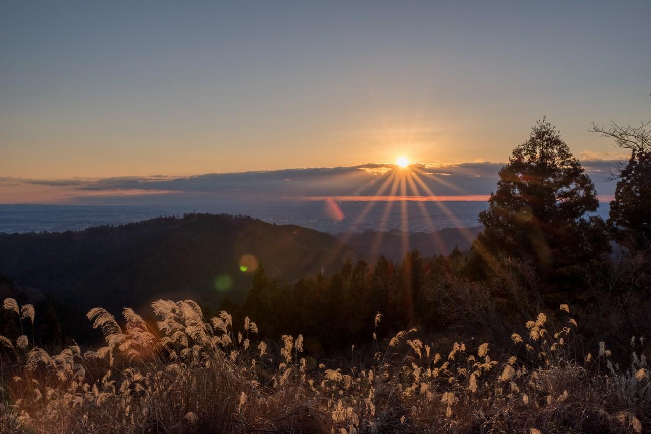 小仏城山から見た2019年初日の出
