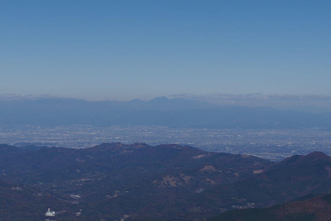武甲山から見た日光連山