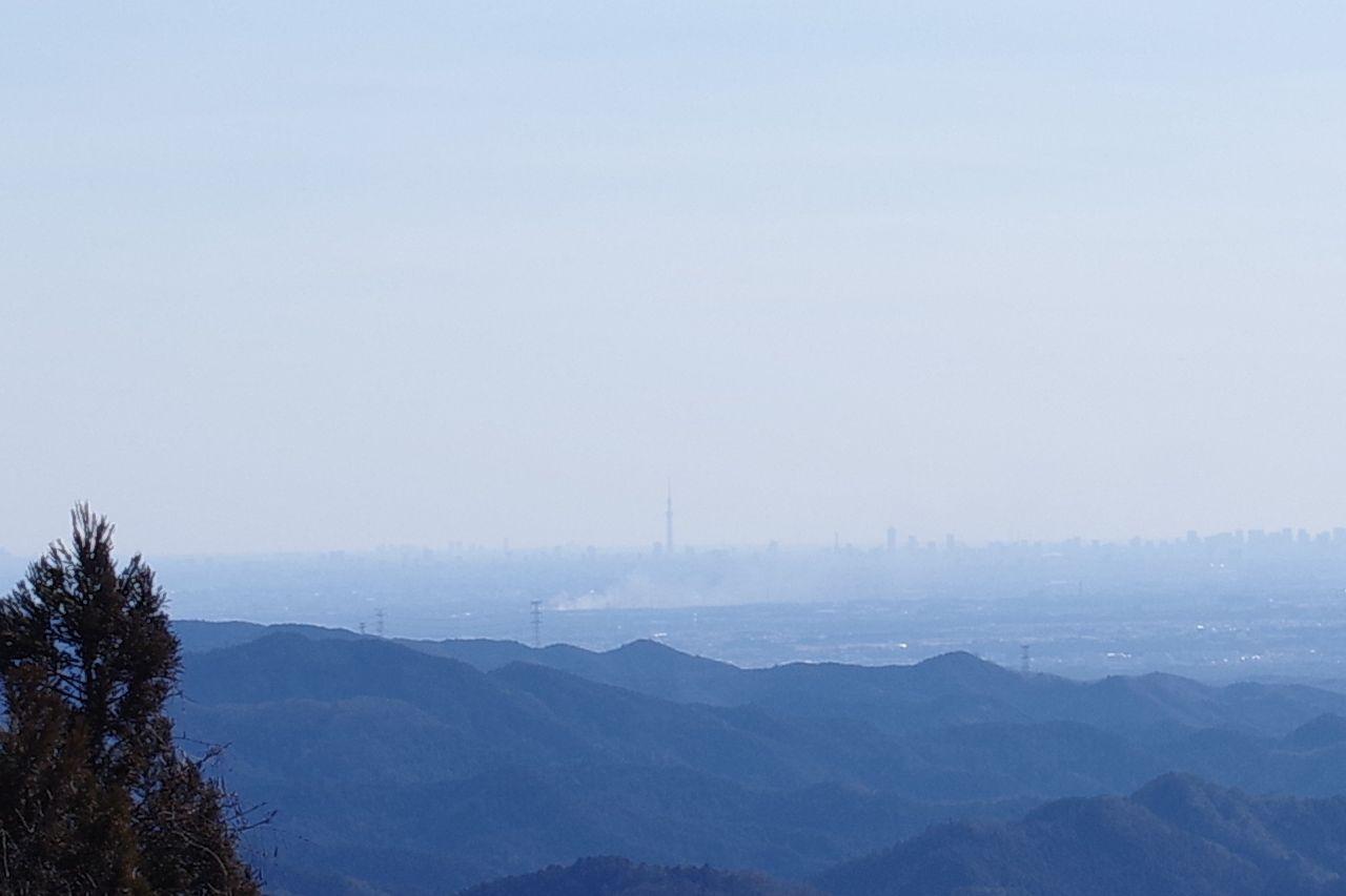 正丸峠から見た東京スカイツリー