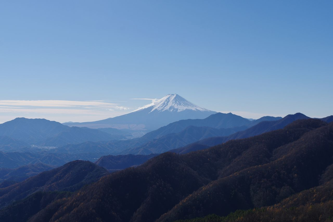 姥子山から見た富士山