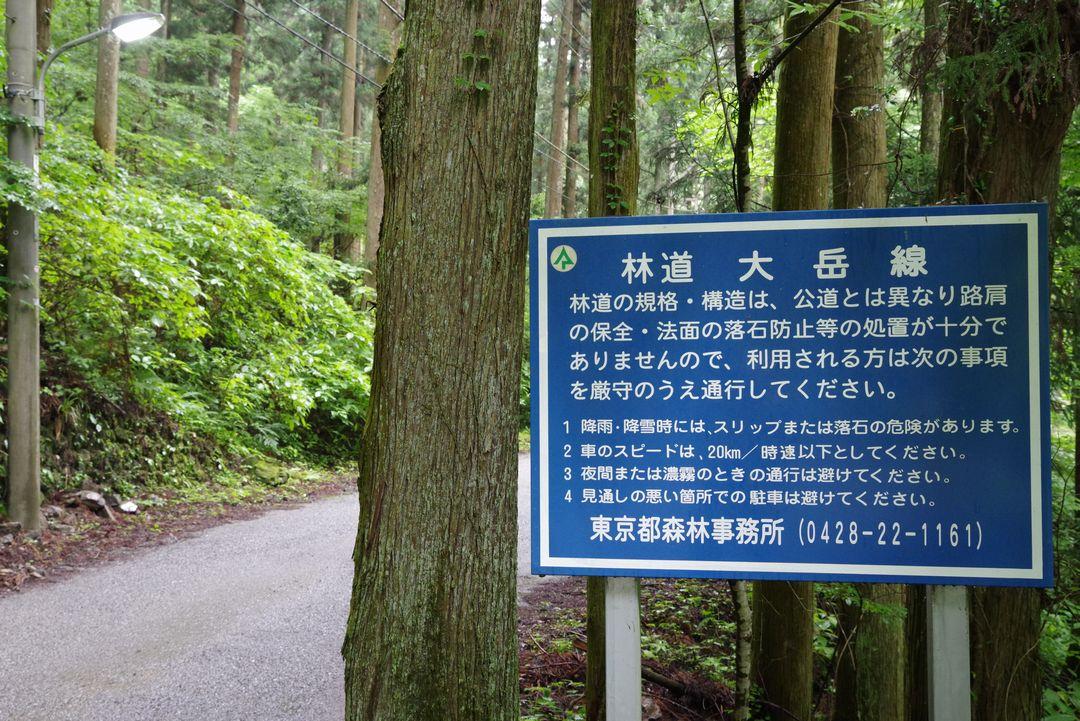 林道大岳線の入口