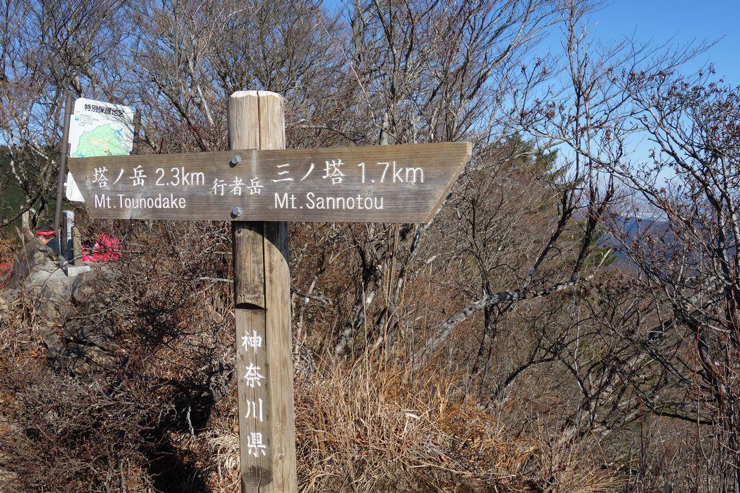 行者ヶ岳の山頂