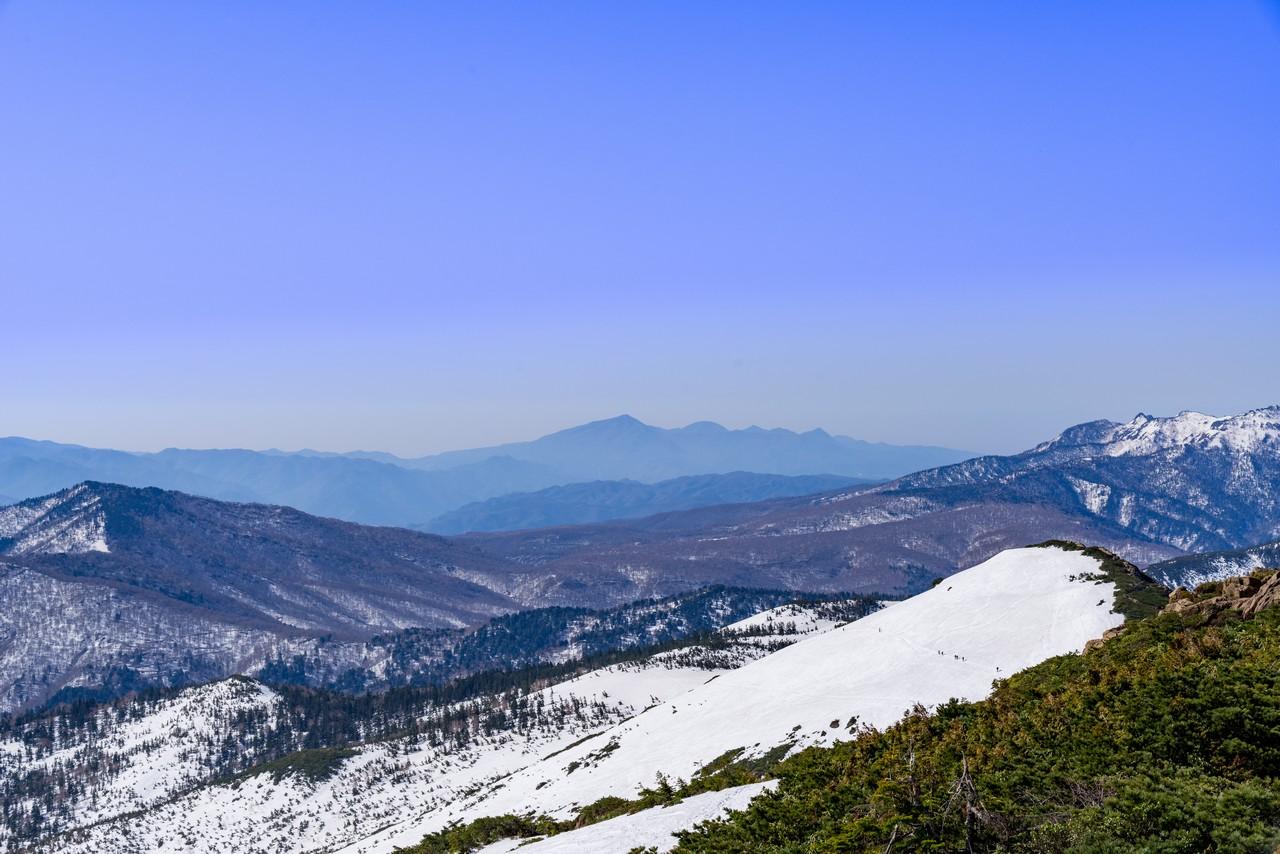 至仏山から見た赤城山
