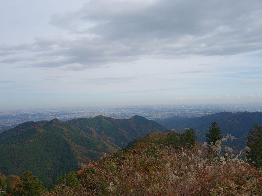 景信山から見た都心方向の展望