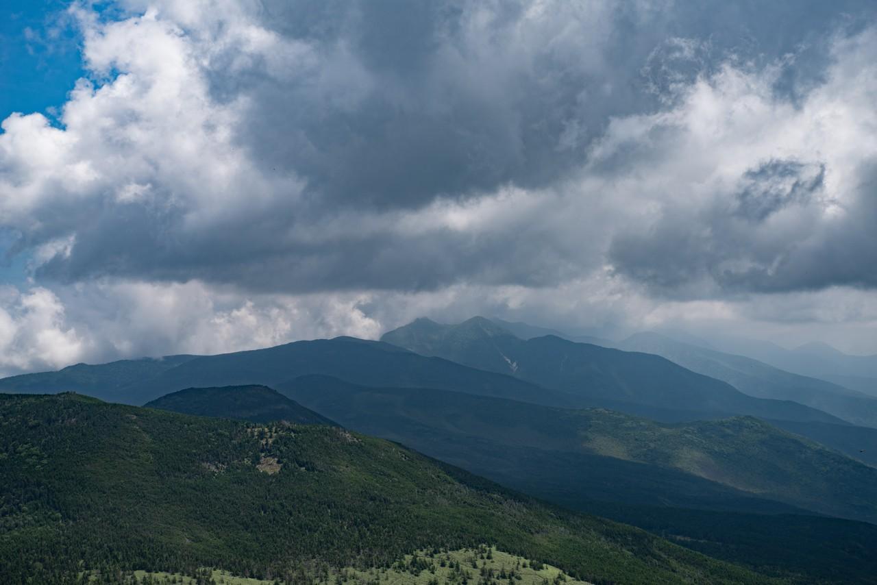北横岳から見た南八ヶ岳