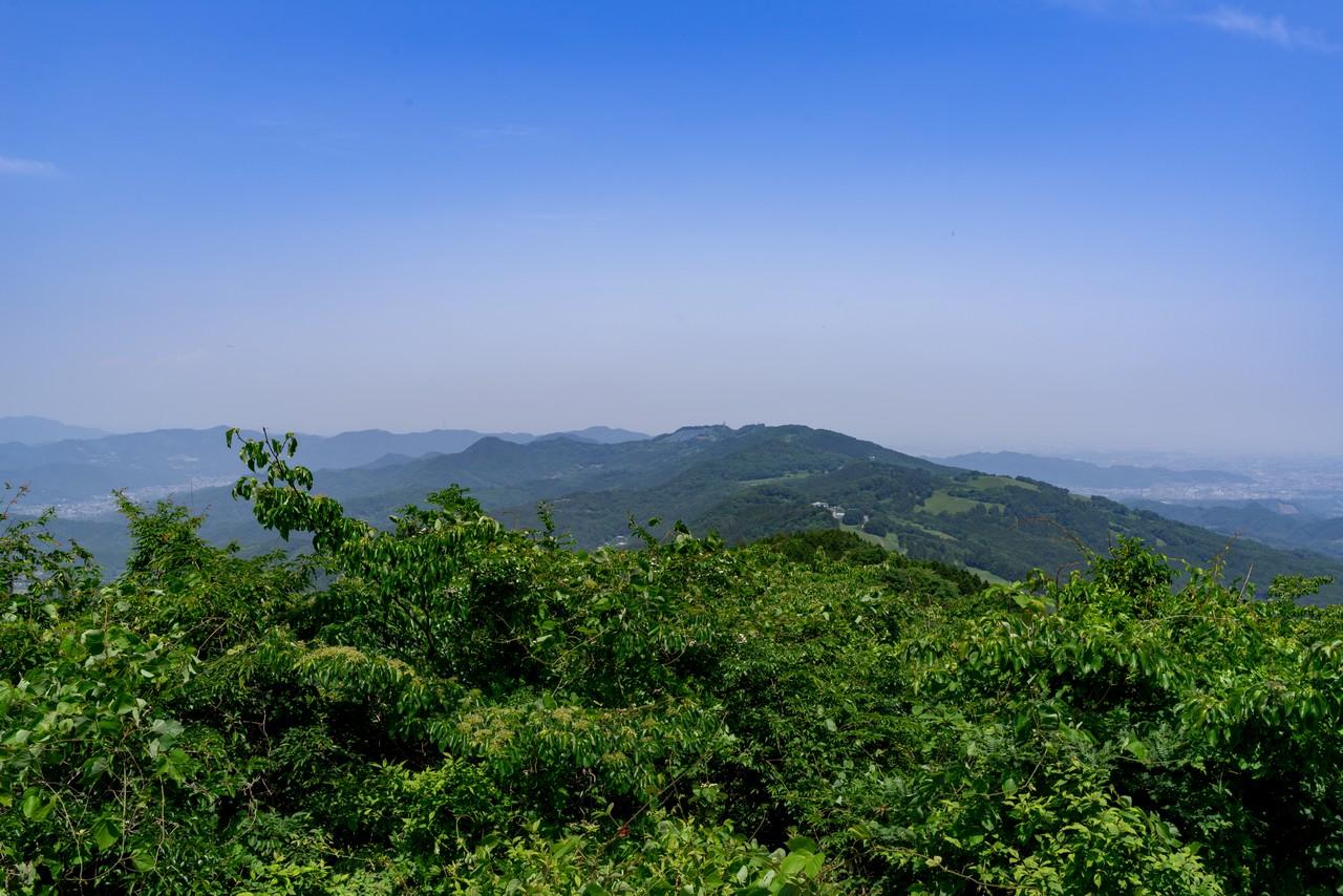 大霧山から見た簑山