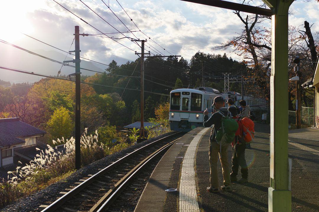 浦山口駅に入線する西武線直通電車