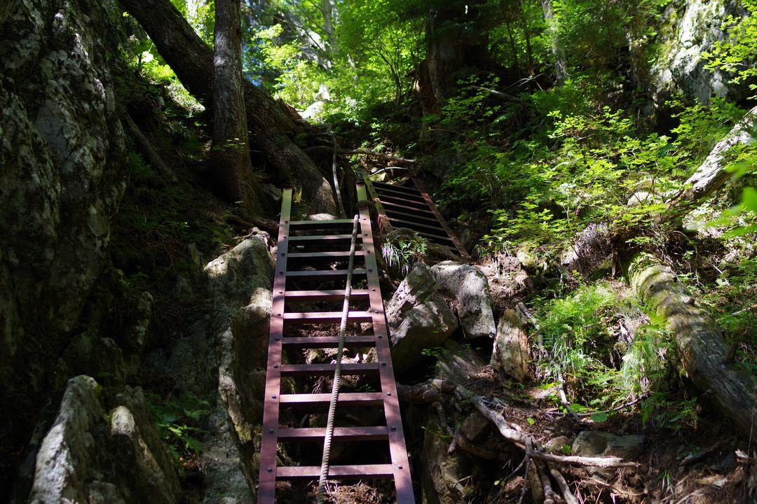 白鳳峠コースのハシゴ
