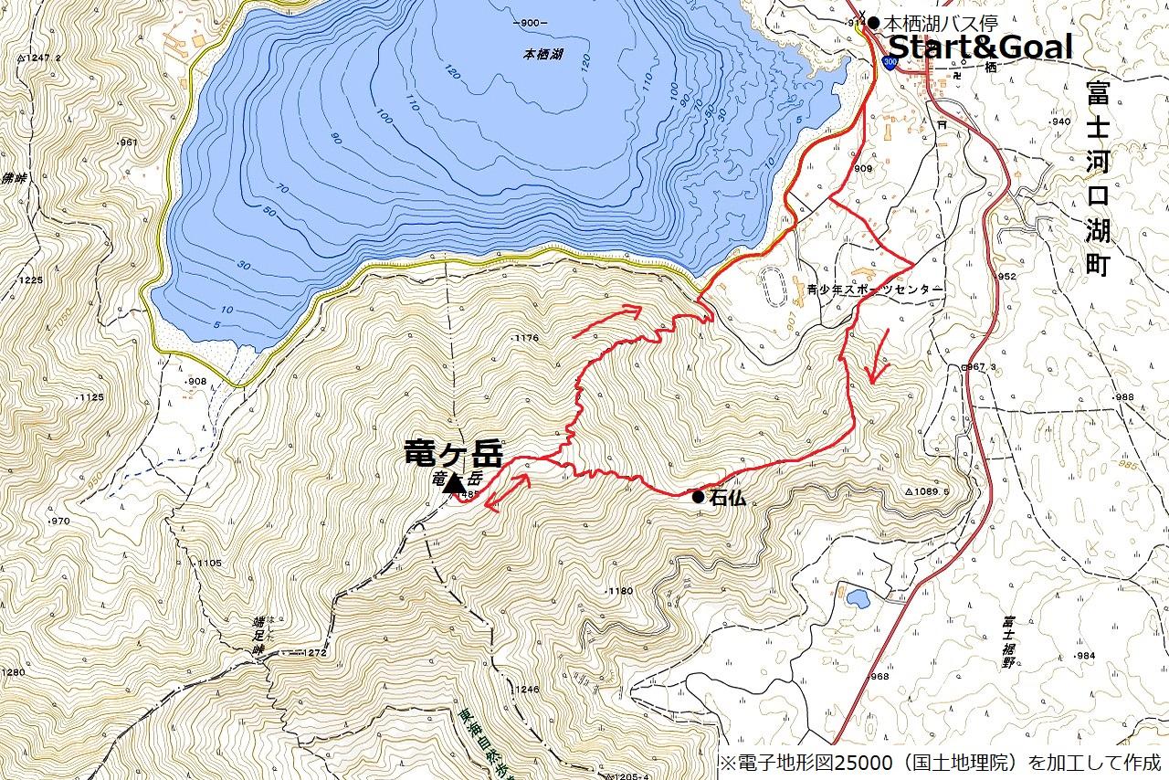 170122竜ヶ岳_map