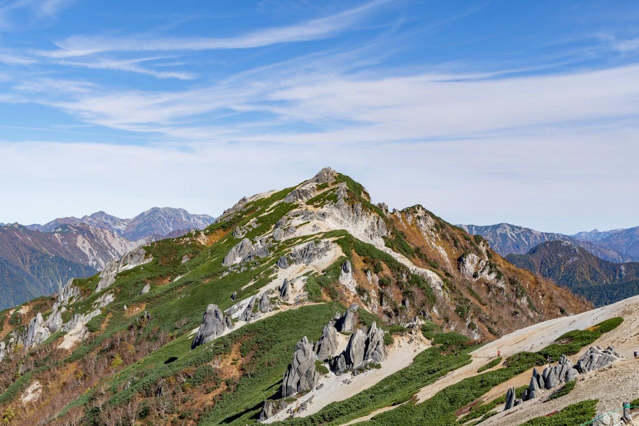 燕山荘から見た燕岳