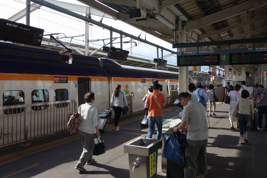 郡山駅 新幹線ホーム