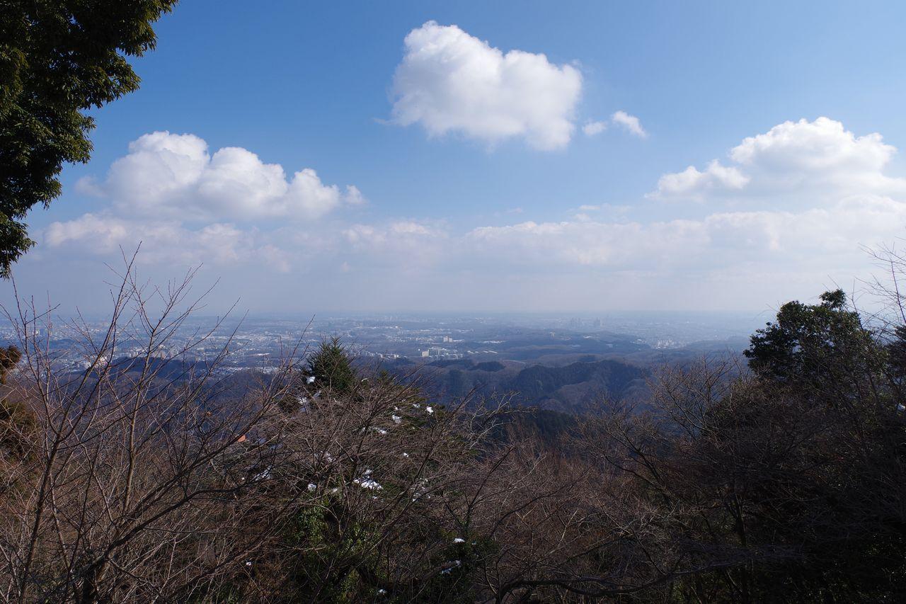 高尾山 ビヤマウント前からの展望