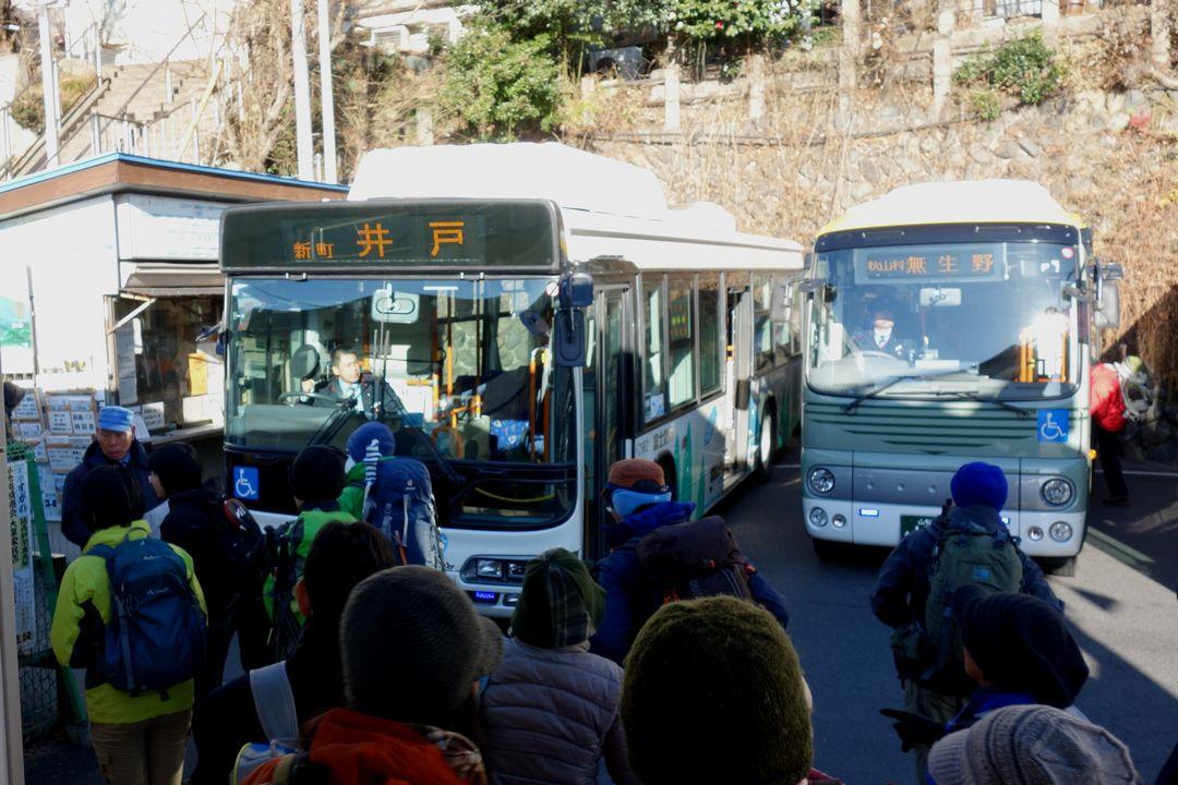 上野原駅のバス停