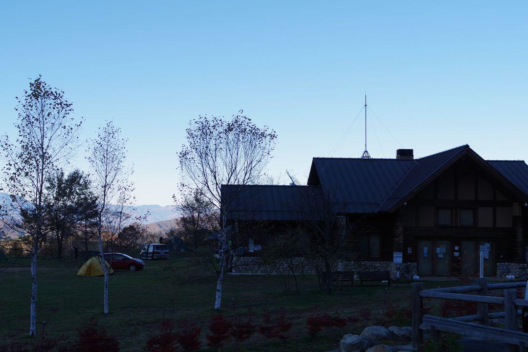 みずがき山自然公園のキャンプ指定地