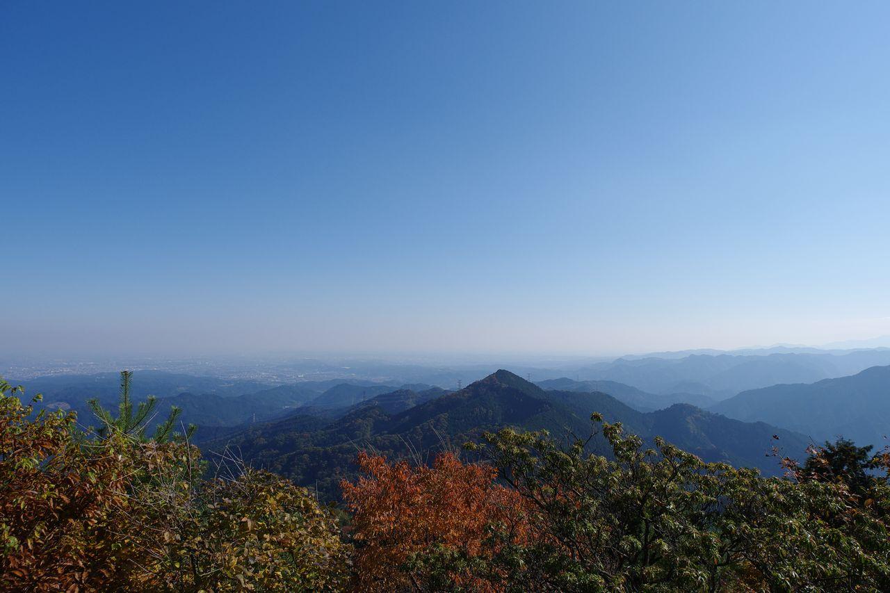 日の出山から見た都心部