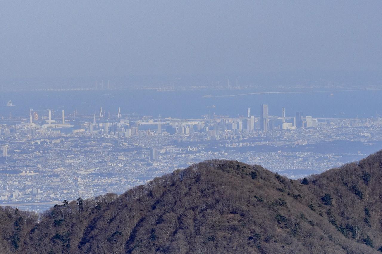 丹沢表尾根から見た横浜