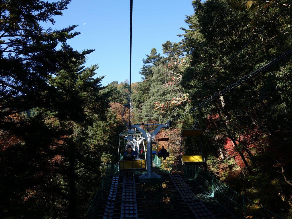 高尾山 エコーリフトから見た光景