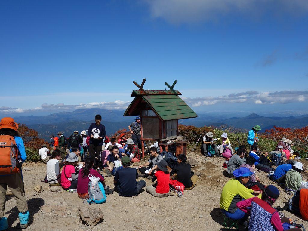 栗駒山山頂の様子