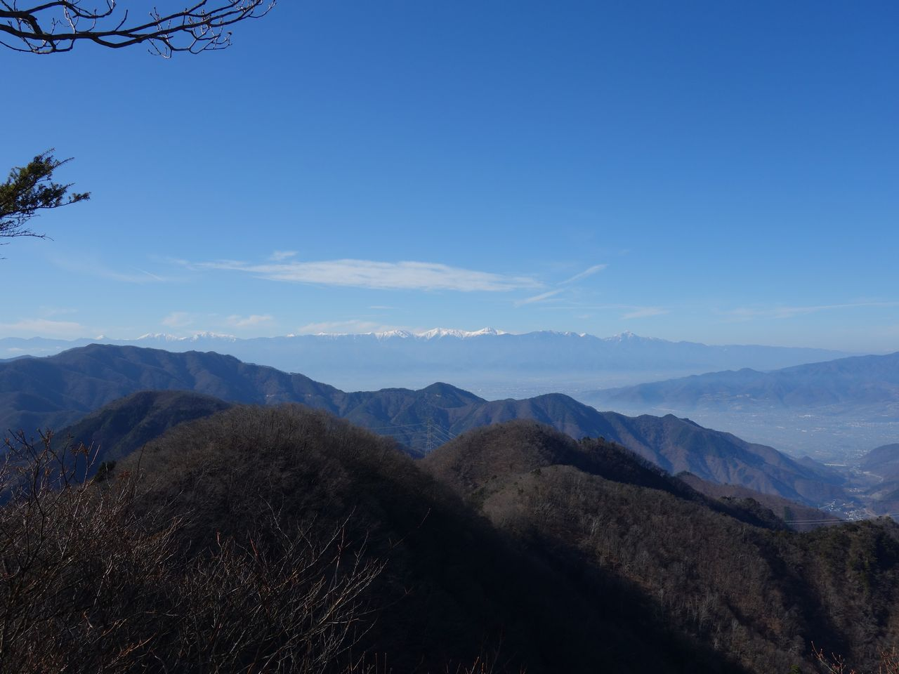 お坊山から見た南アルプス