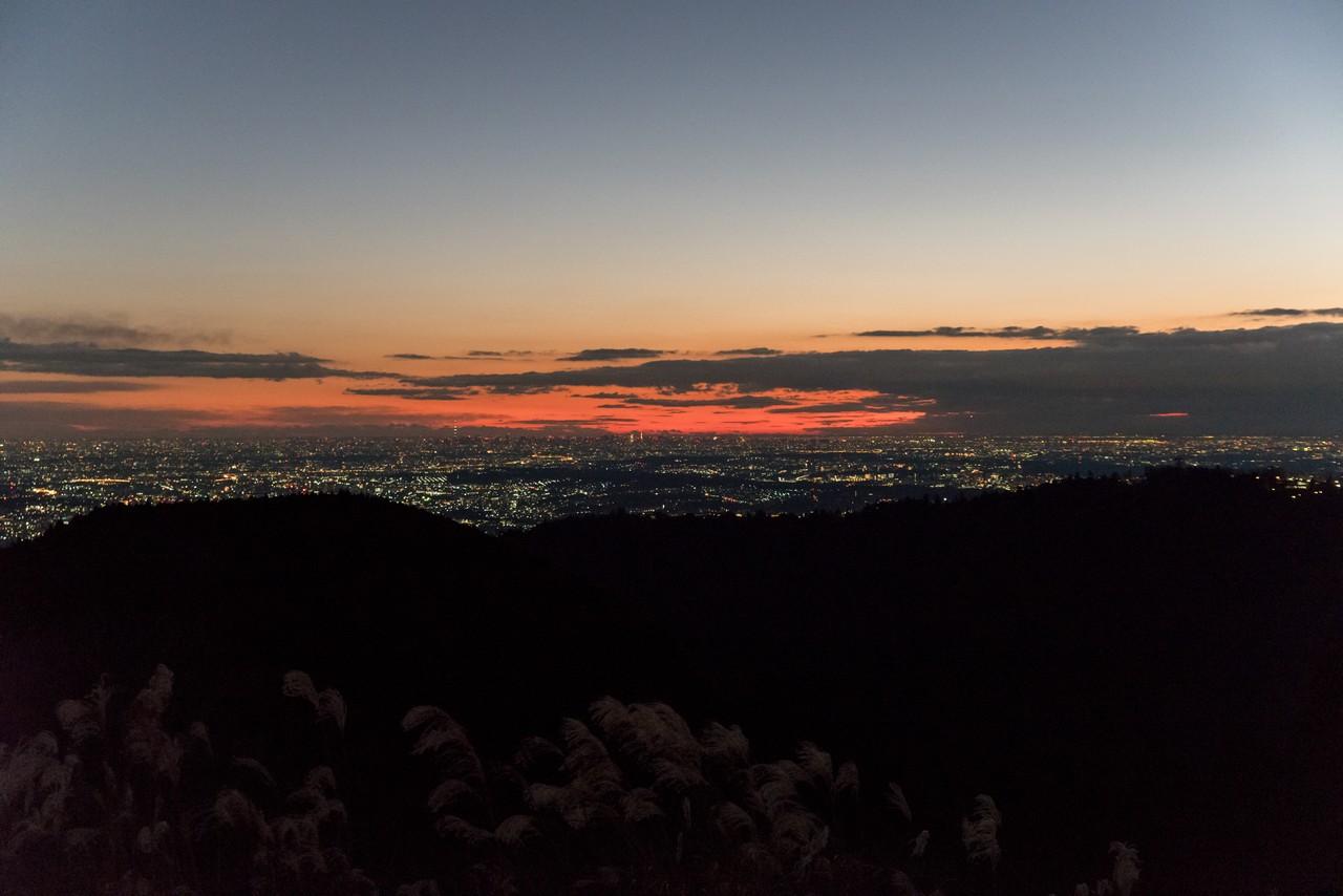 暁の小仏城山山頂
