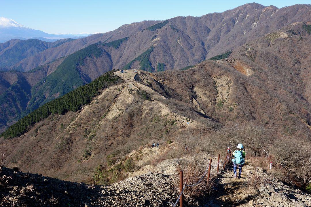 三ノ塔から見た鳥尾山