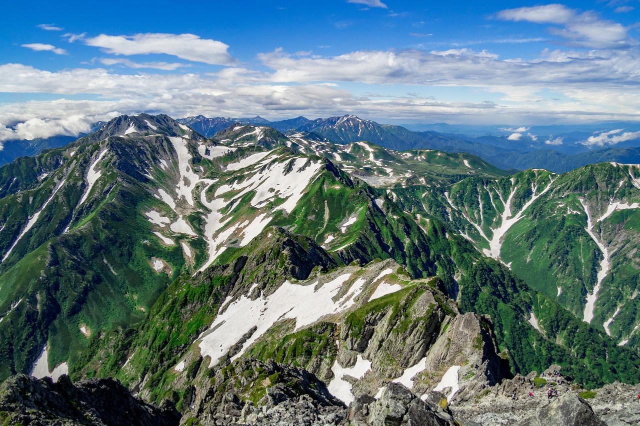 剱岳から見た立山連峰