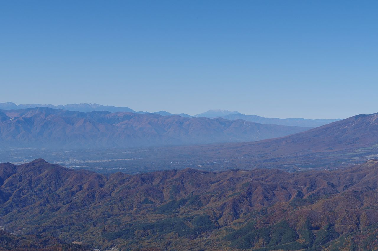 瑞牆山から見た中央アルプス