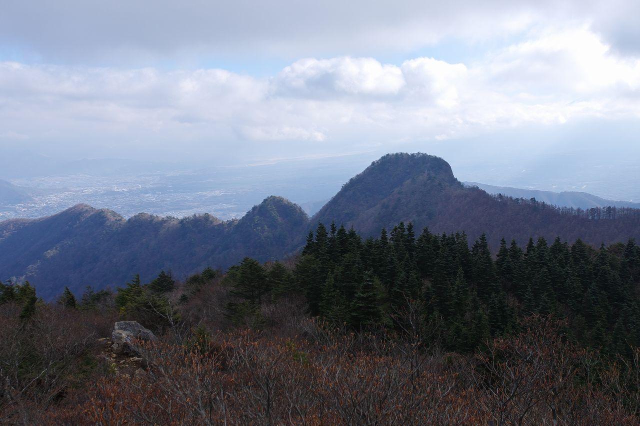 節刀ヶ岳から見た十二ヶ岳