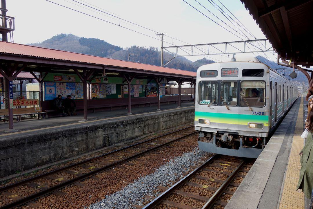 長瀞駅のホーム