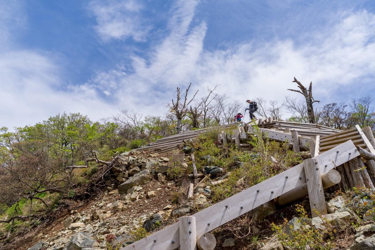 檜洞丸山頂直下の階段